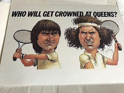 9 Original Signed Stella Artois Queen's Club Posters McEnroe Becker Connors 1988