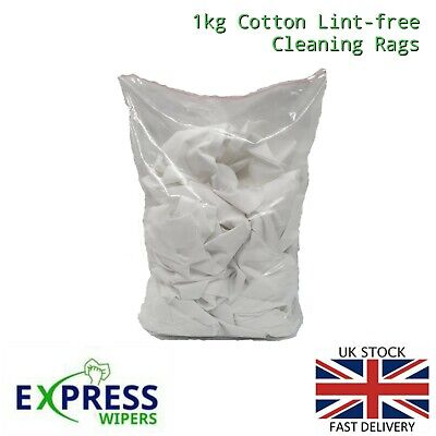 1 Kg Bag Of 100% Cotton Sheet Lint Free Cleaning