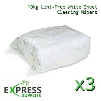 30 Kg Bag Of 100% Cotton Sheet Lint Free Cleaning Rags / Wiping Cloths