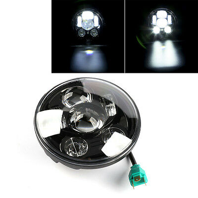 "New 5-3/4"" Round Projector LED Headlight For Harley Sportster XL Dyna Softail"