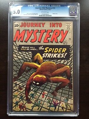JOURNEY INTO MYSTERY #73 CGC VG/FN 5.0; OW; Spider-Man prototype!