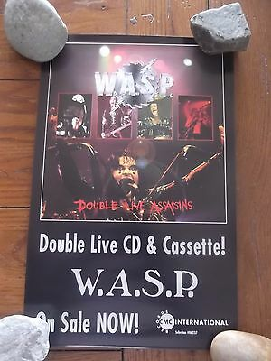 WASP  DOUBLE LIVE ASSASINS PROMO POSTER  11x17 1998