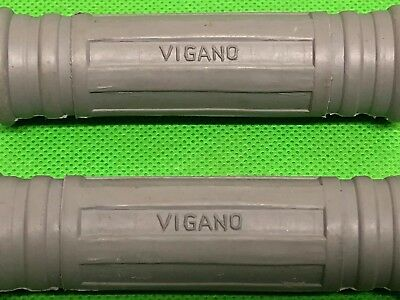 2 x VIGANO GREY RUBBER FLORIDA BAR GRIPS FOR VESPA & LAMBRETTA SCOOTERS