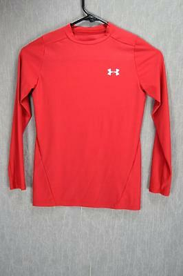 BOYS UNDER ARMOUR YOUTH LARGE RED LONG SLEEVE HEAT GEAR YLG COMPRESSION  -t1