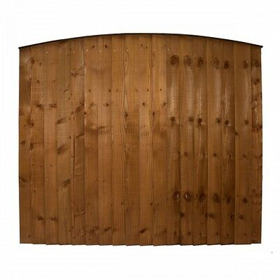Deco Cheap Arched Wooden Fence Panels Heavy Duty Pressure Treated Range Of Sizes