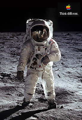 Buzz Aldrin Apple Iphone 6 Think Different Motivation Inspiration Poster