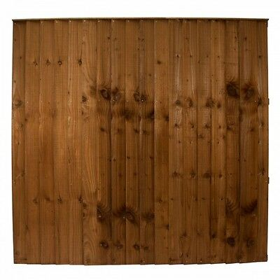 6Ft Fence Panels Quality Pressure Treated Heavy Duty Feather Edge Close Boarded
