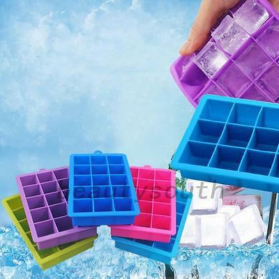 15 Cavities Silicone Mold Tool Jelly Ice Cubes Tray Pudding Mould