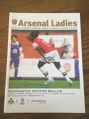 Arsenal Ladies v Doncaster Rovers Belles 1 Sep 2013