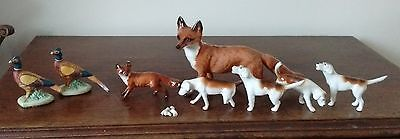 Group Of Beswick-All A/f Except For One Hound-Foxes/hounds&pheasants