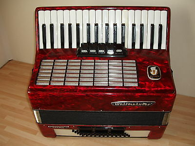 piano accordion weltmeister  Stella 60 bass buttons. in very good condition