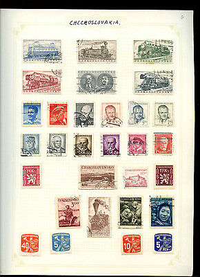 Czechoslovakia Album Page Of Stamps #V4851