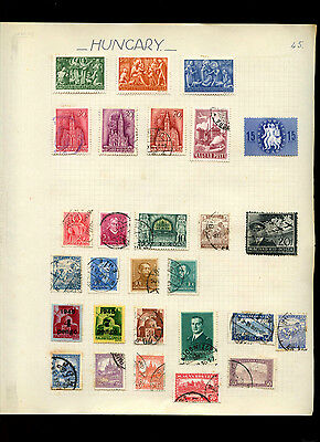 Hungary Album Page Of Stamps #V4926