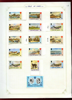 Isle Of Man Album Page Of Stamps #V4950