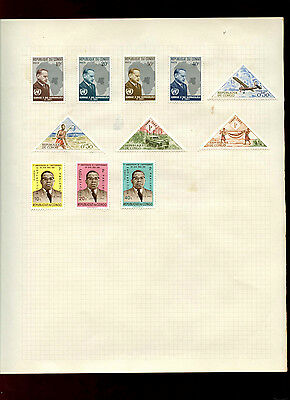 Congo Album Page Of Stamps #V4844