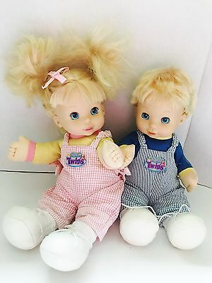 2000 TOO CUTE TWINS Brother and Sister Talking Dolls Twin Baby Dolls Tested
