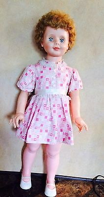 "36"" VINTAGE Honey Blonde WALKER COMPANION  PLAY PAL TYPE DOLL UNMARKED"
