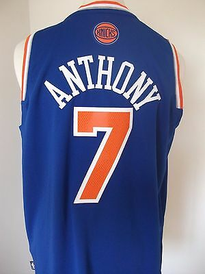 New York Knicks Adidas Vest With Anthony 7 On The Back - Size L - New With Tags