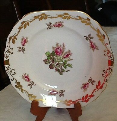 Royal Chelsea Moss Rose Cake Plate Perfect!!!
