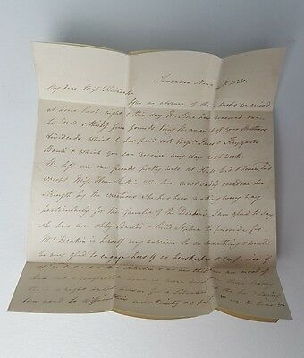 Vintage handwritten letter with wax seal 1830