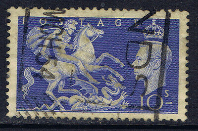 Great Britain #288(3) 1951 10 shilling St. George Slaying Dragon Used CV$9.75