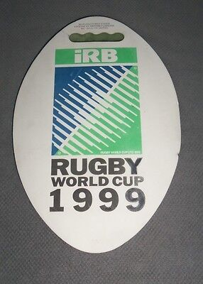 RUGBY WORLD CUP 1999 Rugby Ball Match Seat Cushion Rugby Memorabilia - Rare