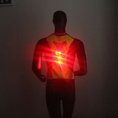 Thin Breathable Night Running Cycling LED Safety Security Reflective Vest RS