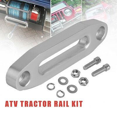 3600Lbs Aluminum Polished ATV Tractor Hawse Fairlead For Synthetic Winch Rope RS