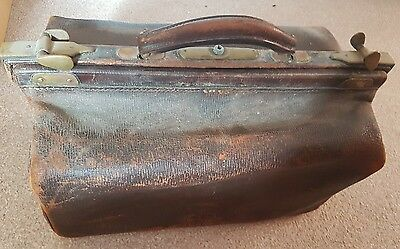 antique brown doctors bag