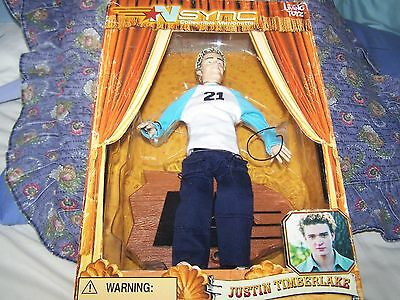 Living Toyz N Sync Justin Timberlake Collectable Marionette Doll Boxed