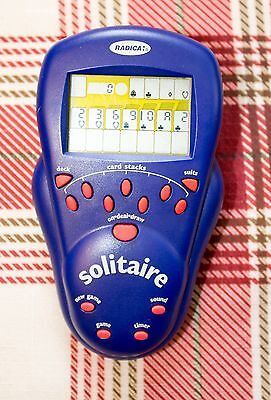 Radica Solitaire Electronic Handheld Portable Travel Pocket Game – 2000