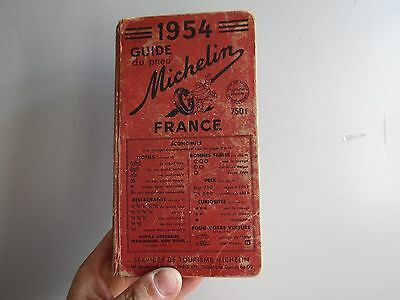 ancien rouge guide michelin 1954