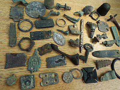 "ELK"" COLLECTION of ROMAN/SAXON/VIKING/MEDIEVAL/ Later Detecting FINDS fm Norfolk"