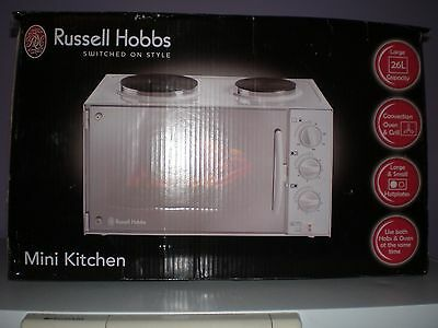 Russell Hobbs 26 litre Mini Kitchen OVEN AND HOB COOKER PORTABLE