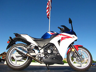 2012 Honda CBR CBR250RC 2012 HONDA CBR250RC RED, WHITE, AND BLUE DELKEVIC EXHAUST TANK PAD 7,044 MILES
