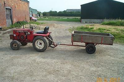 Wheel Horse Gt14 Garden Tractor, With Tipping Trailer & Hydraulics, Very Rare.