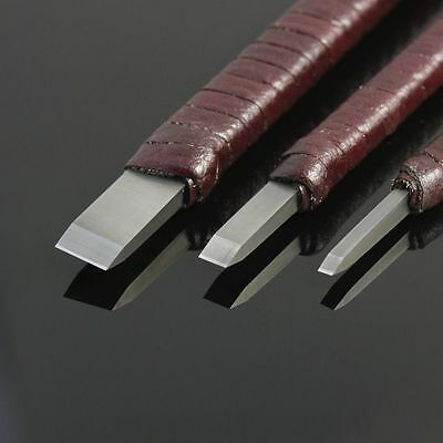 Set Of 3 Hard Alloy Chinese Seal Carving Engraving Knives