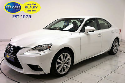 2014/64 Lexus Is 300H Executive Edition Saloon 2.5 Cvt Petrol/Electric White