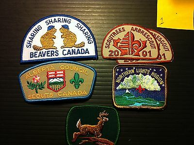 Mixture of Scouts Beaver patches from Alberta  (1/7)
