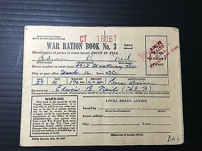 2 War Tax Ration Books Used with Stamps (a1206)
