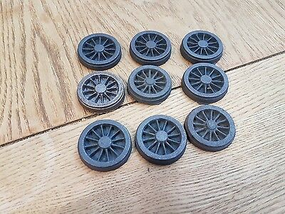 L129  0 GAUGE ??? 35mm CAST LOCO WHEELS  set heavy metal loco size 22