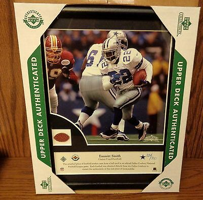 EMMITT SMITH Upper Deck Authenticated Picture w Game Used Ball 324/700