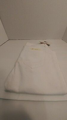Maison Kitsune Straight Cut Jeans White Made IN Italy Size 30  #149