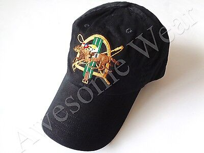 New Ralph Lauren Polo 100% Cotton Black Equestrian Baseball Cap Hat One Size