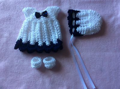 hand knitted dolls clothes to fit 10-12 inch doll
