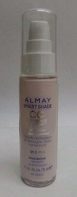 Almay Smart Shade CC Luminous Primer Complexion Correcting with SPF 15 Exp 03/19