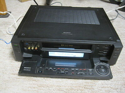 Sony SLV-R1000 Super S-VHS SVHS Player Recorder HiFi Stereo VCR Deck! Works But!