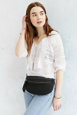 New Ecote Textured Black Belt Bag Fanny Pack Urban Outfitters MSRP $50
