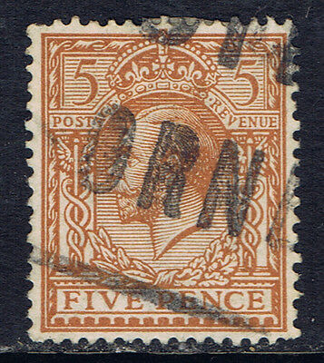 Great Britain #166 (9) 1912 5 pence yellow brown George V Used CV$3.75