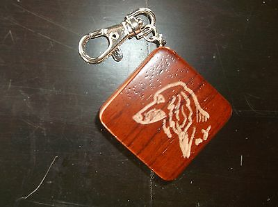 Saluki- Hand engraved wood Key Chain/Tape Measure  by Ingrid Jonsson